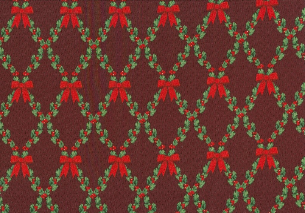 Let It Sparkle - Bows & Holly - Radiant Crimson