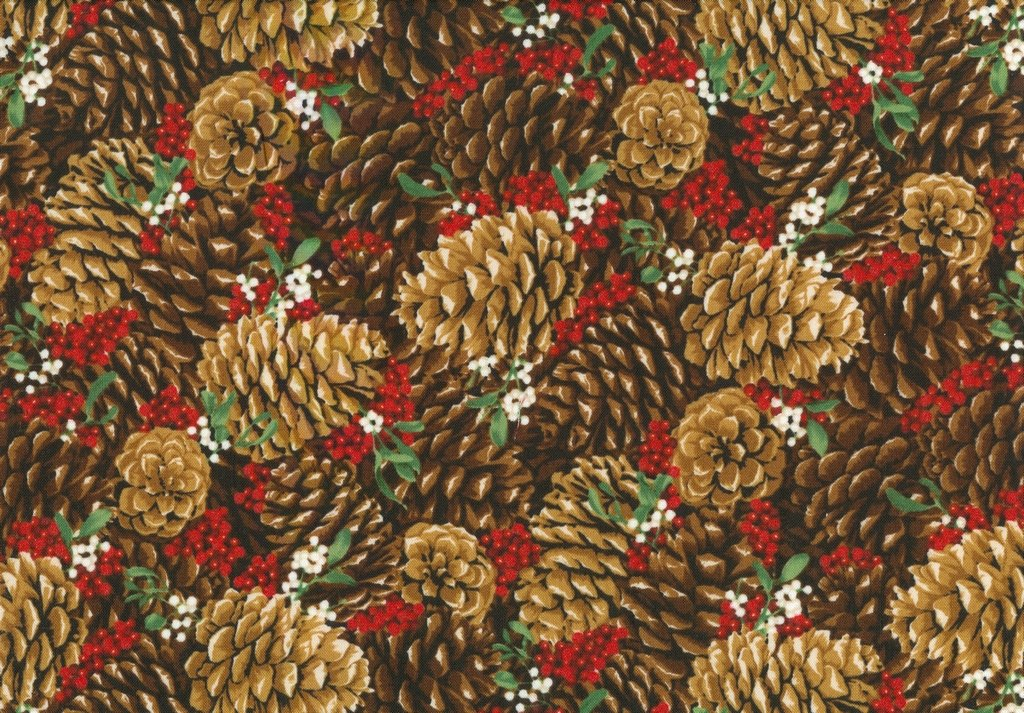 Let It Sparkle - Pretty Pine Cones - Radiant Berry