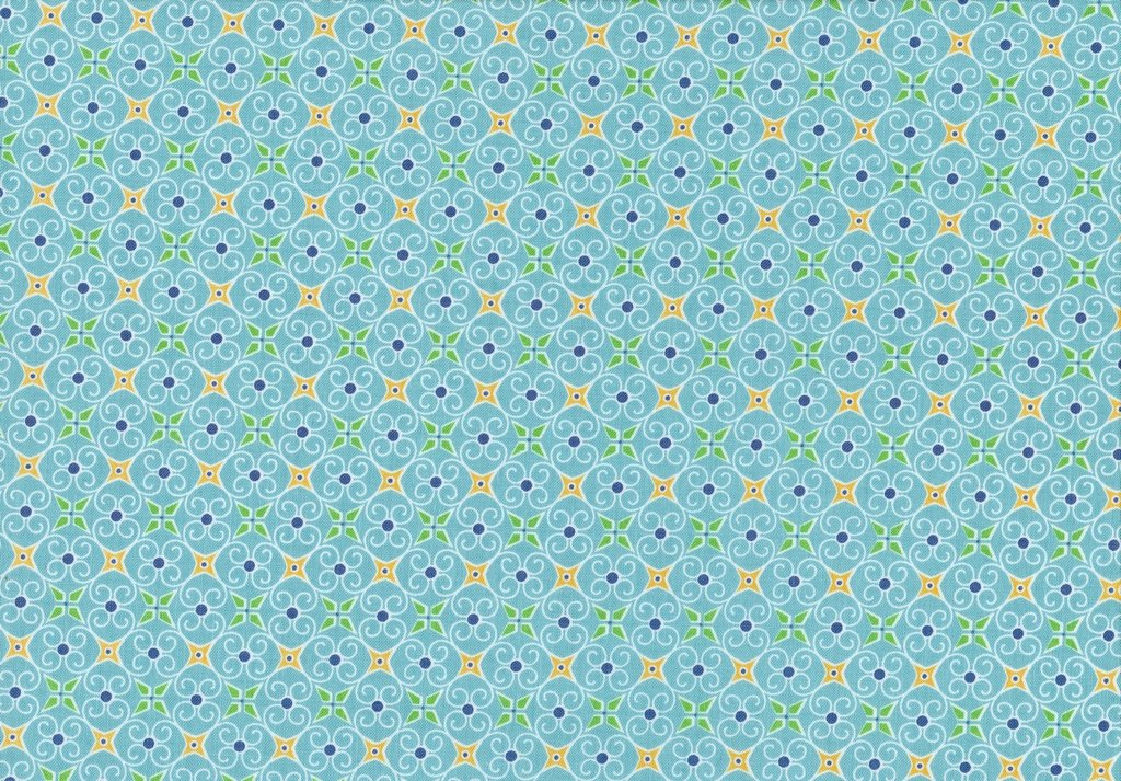 Cozy Christmas Wrapping Paper Blue