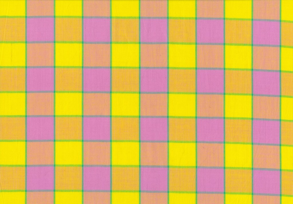 Artisan - Checkerboard Plaid Ikat - Pink