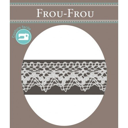Frou-Frou 1in Crocheted Lace White