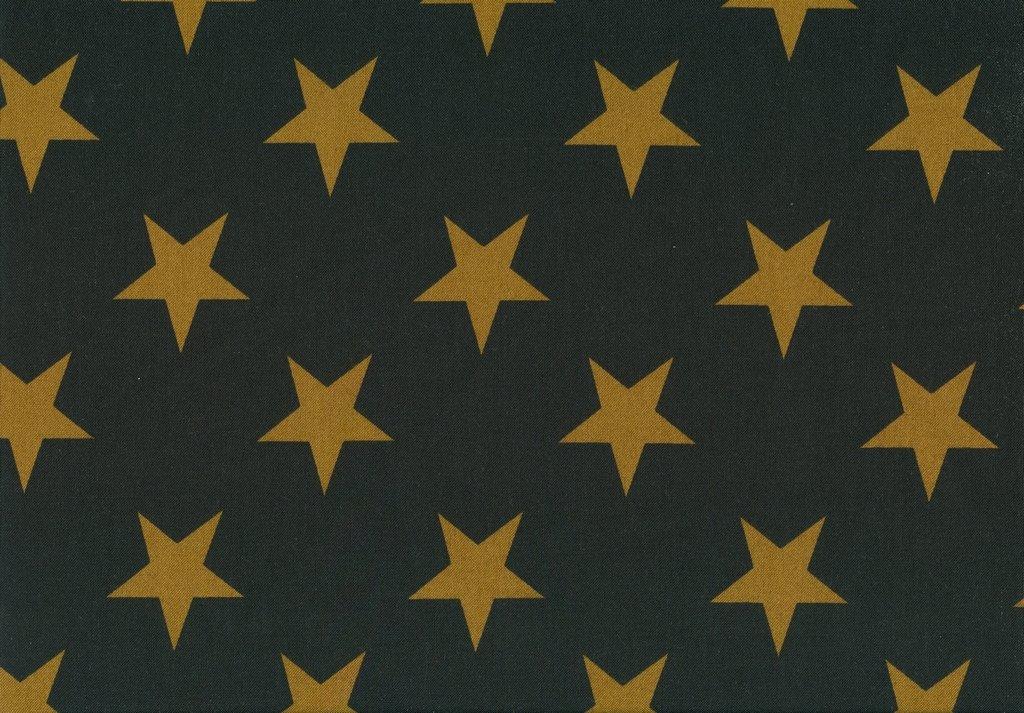 Jo's Best Friends - 2879 - Gold Stars on Black