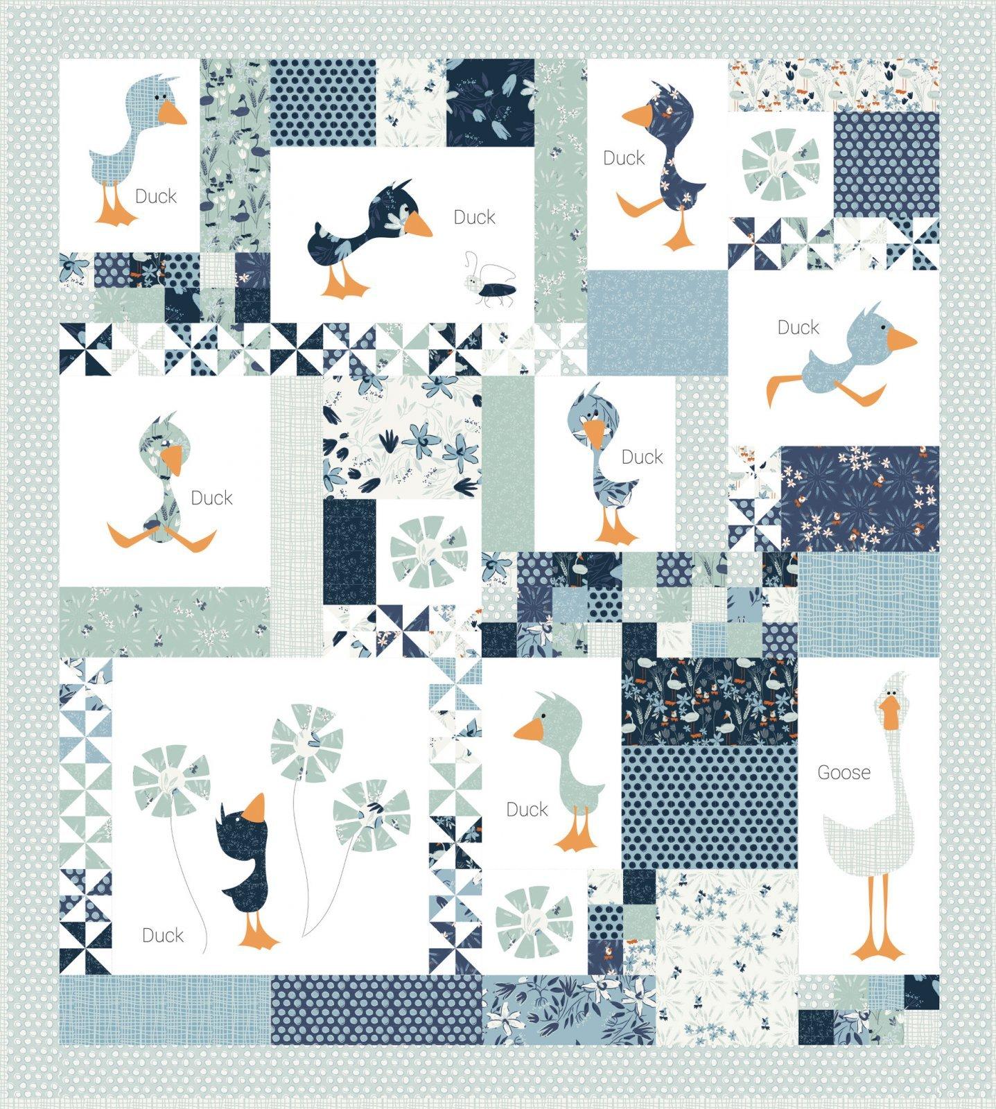 Blue Goose Duck Duck Goose Quilt Kit