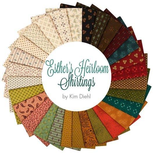 Esther's Heirloom Shirting - Fat Quarter Pack - 29 Pieces