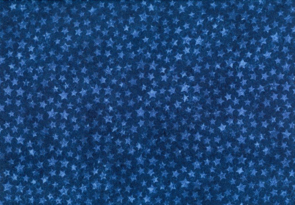 Stars & Stripes Flannel - Blue Stars - Blue