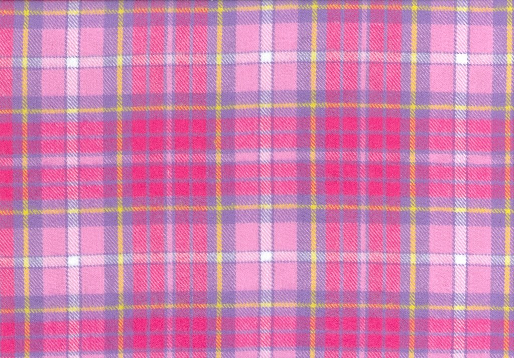 Sew Sweet - Primo Plaid Flannel - Plaid - Pink, Purple, Yellow