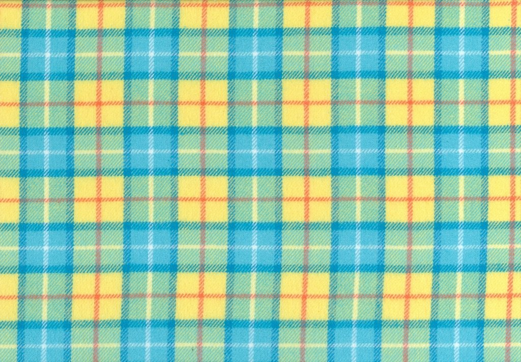 Sew Sweet - Primo Plaid Flannel - Plaid - Light Teal, Yellow