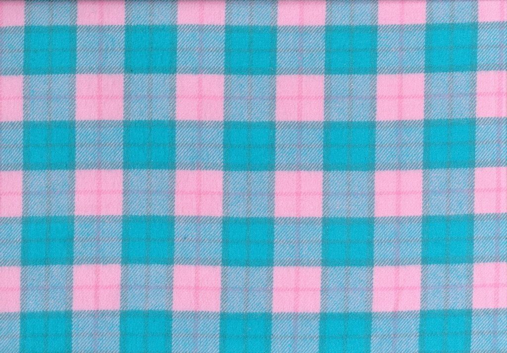 Sew Sweet - Primo Plaid Flannel - Plaid - Light Teal, Pink