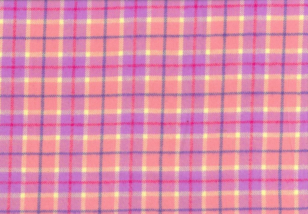 Sew Sweet - Primo Plaid Flannel - Plaid - Pink, Purple, Yellow