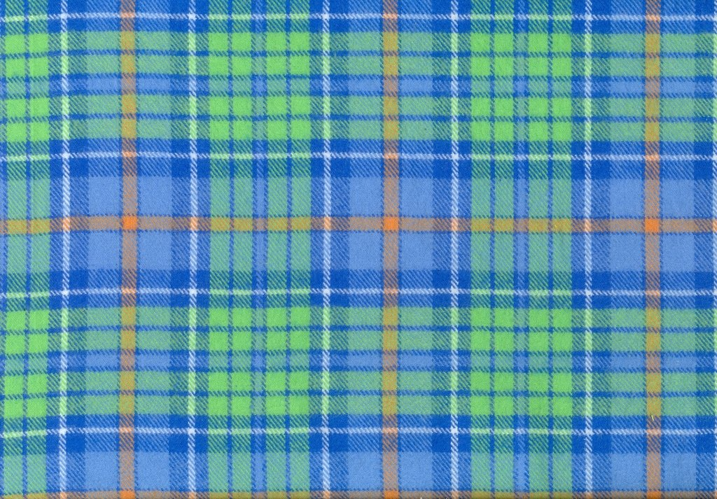 Sew Sweet - Primo Plaid Flannel - Plaid - Blue, Green, Gold
