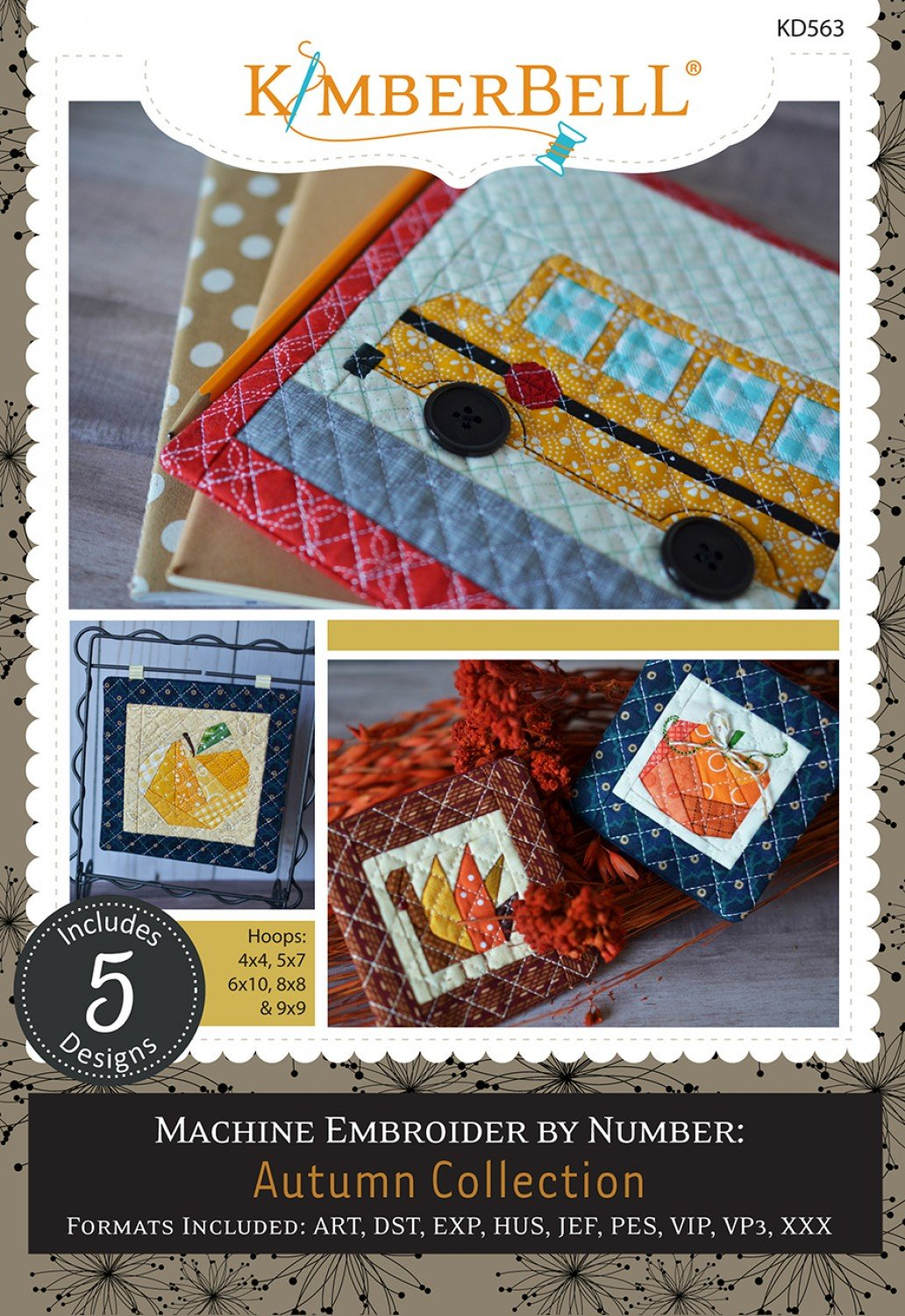 Machine Embroidery by Number - Autumn Collection CD