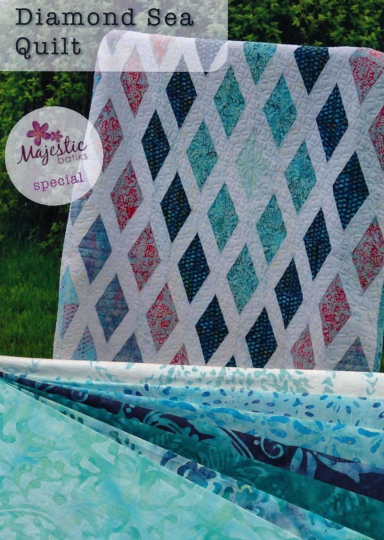 Diamond Sea Quilt Kit (55 x 70) - Aqua/Blue