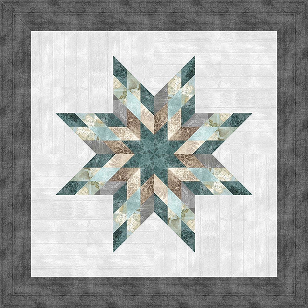 Farmhouse Star - Quilt Kit (40in x 40in) - Vintage (pattern included)