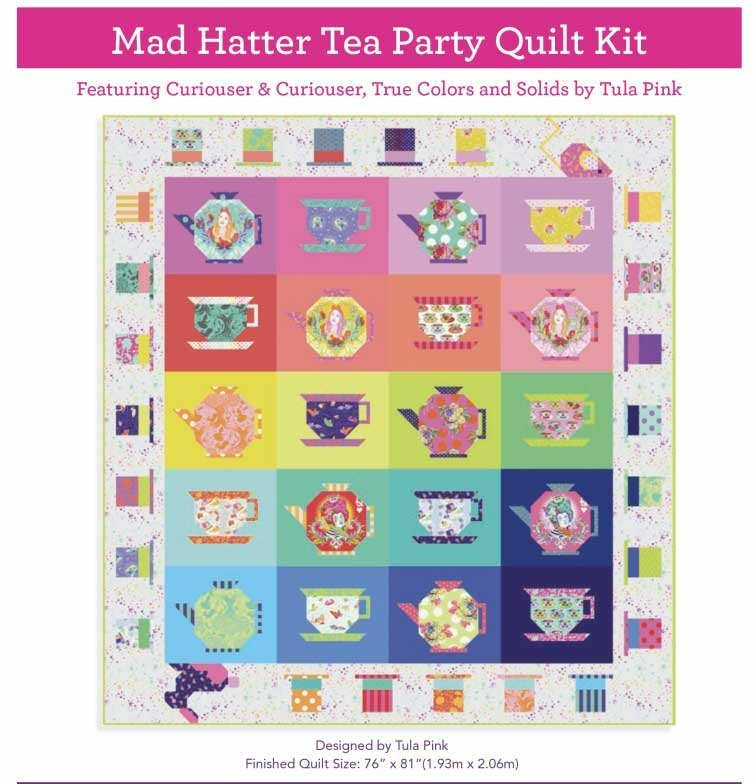 Quilt Kit - Mad Hatter's Tea Party