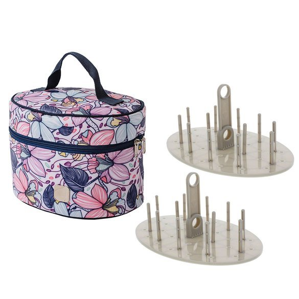 Bluefig Thread Carry Case Mini, Includes 2 Thread Carrier Trays & 2 Sets of Pins, Maisy