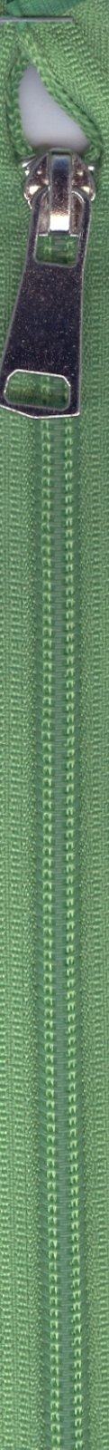 24 Separating Zipper #5 - Lawn Green with Silver Pull
