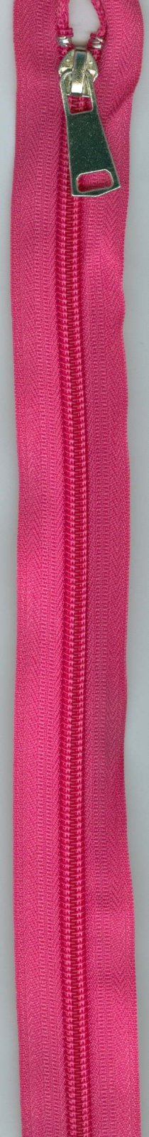 24 Separating Zipper #5 - Hot Pink with Silver Pull