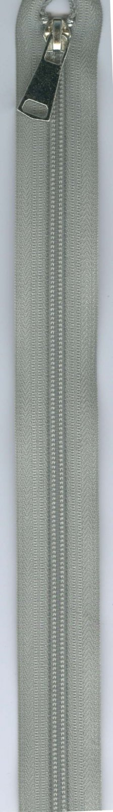 32 Separating Zipper #5 - Gray with Silver Pull