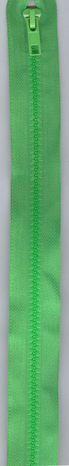 16 Separating Zipper #5 - Green with Green Pull