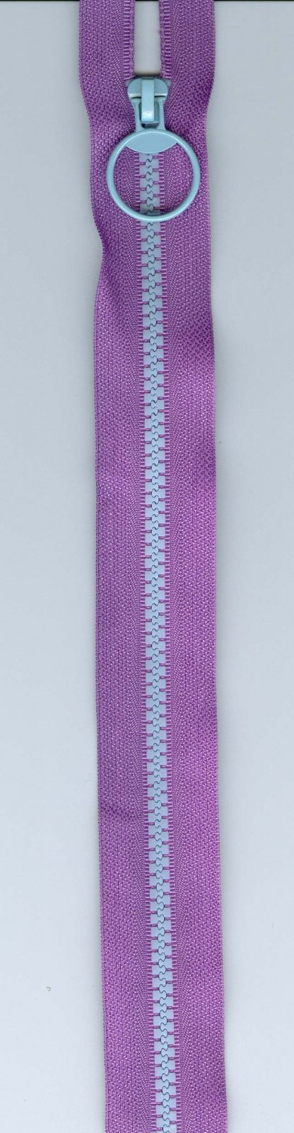 10 Zipper #5 - Purple w/ Blue Teeth