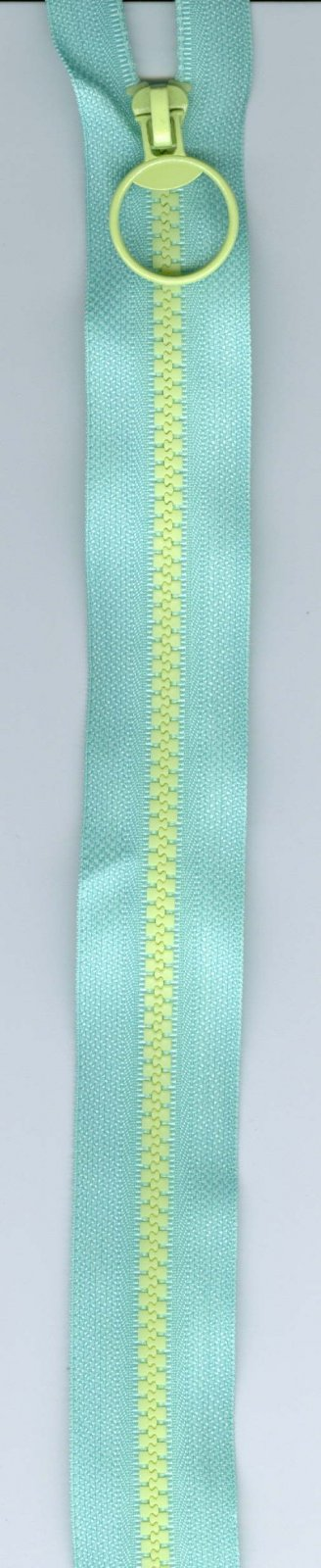 14 Zipper #5 - Mint with Yellow Teeth