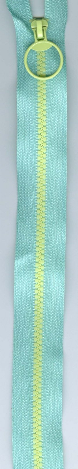 16 Separating Zipper #5 - Blue with Yellow Teeth