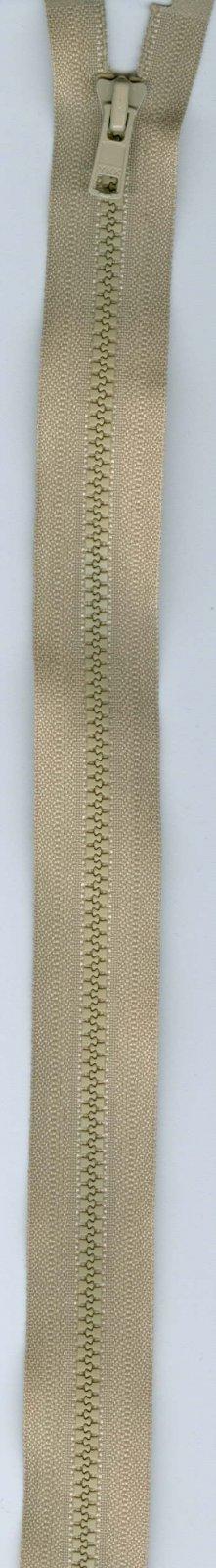 24 Separating Zipper #3 - Taupe