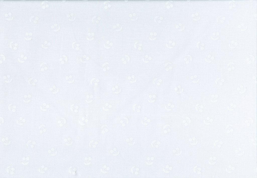 White on White Basics - Cherries - White
