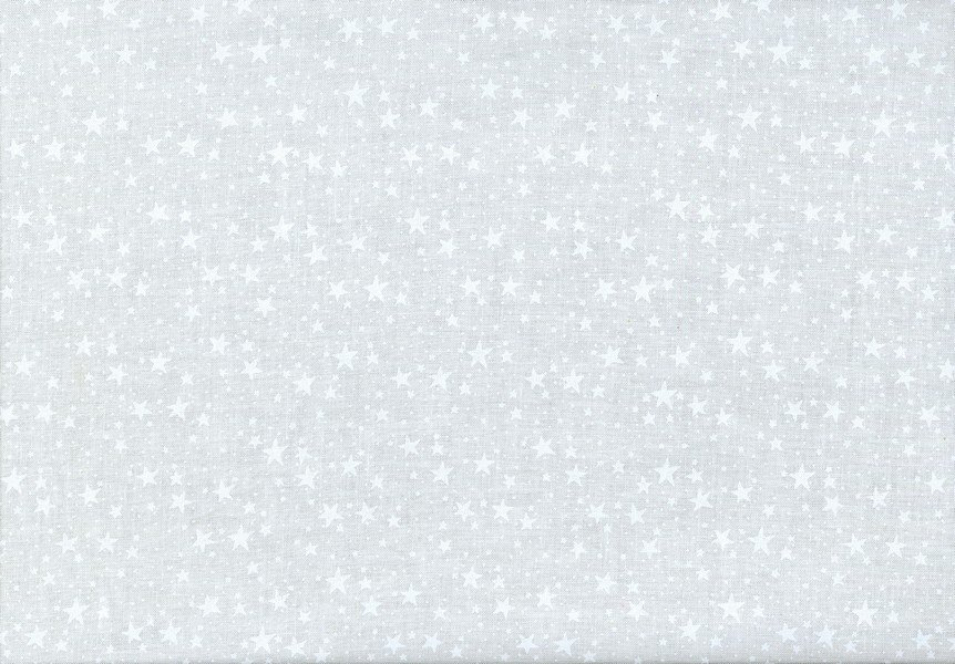 Quilter's Flour II - Stars - White on White