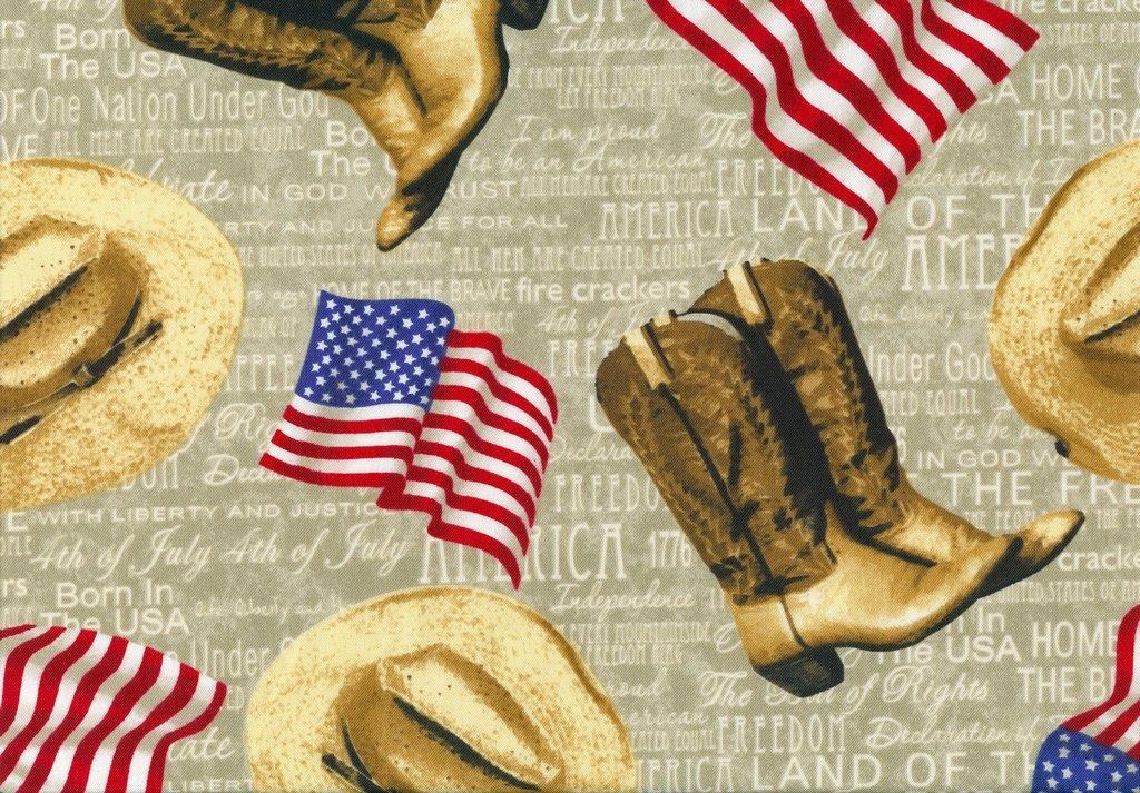 American Pride - Flags & Boots - Ecru