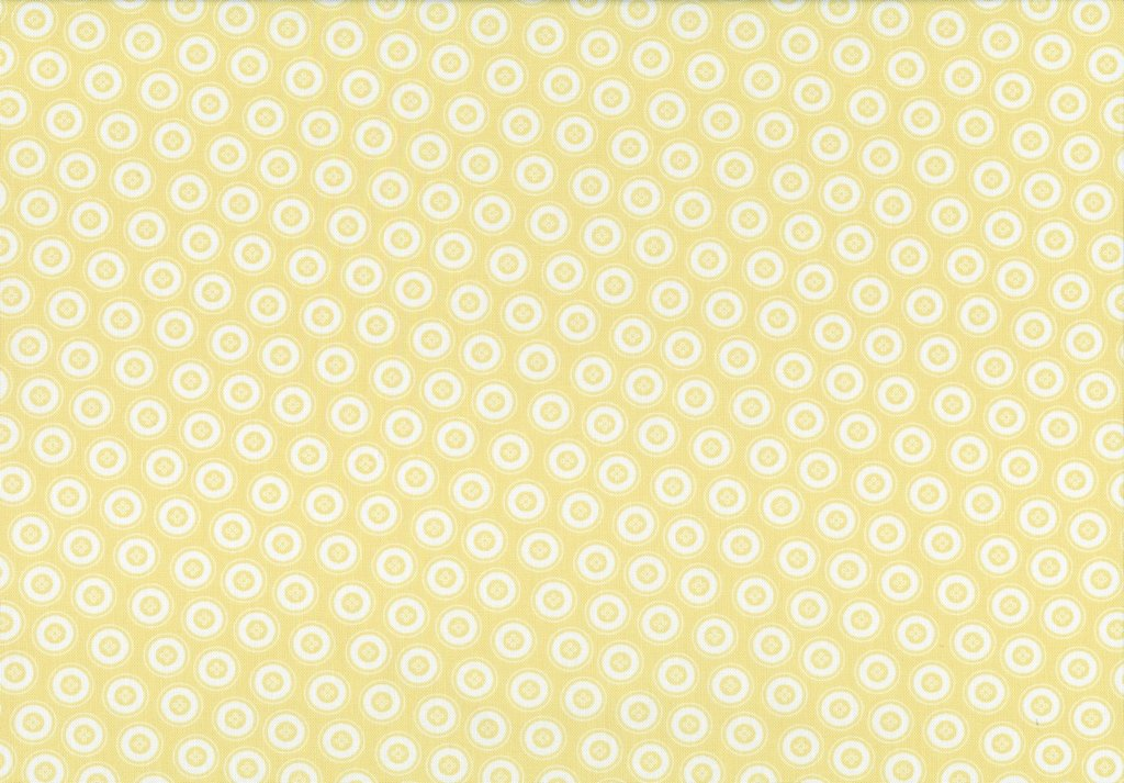 My Happy Place - Dotty Buttons - Light Yellow