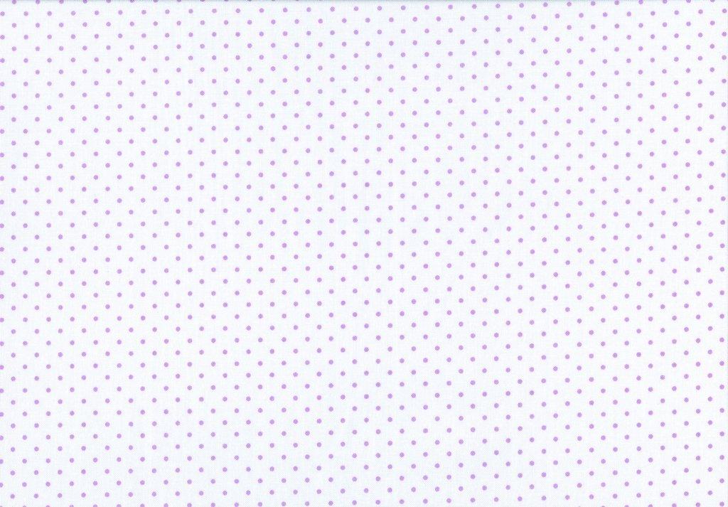 Swiss Dot on White C660 - Lavendar