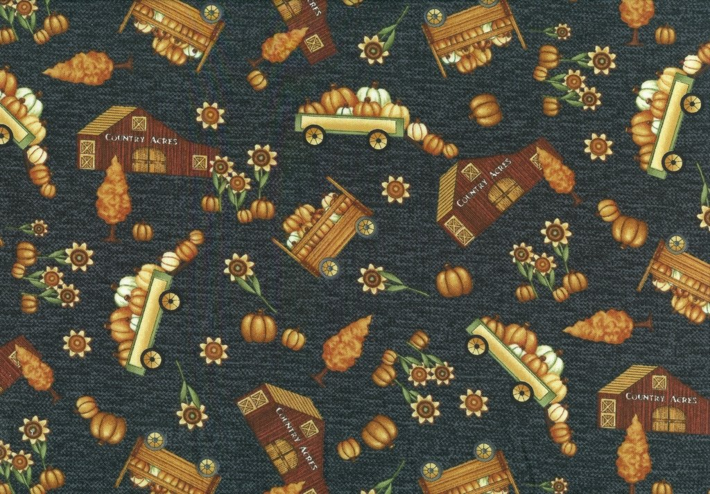 Country Journey - Small Novelty Fall - Black