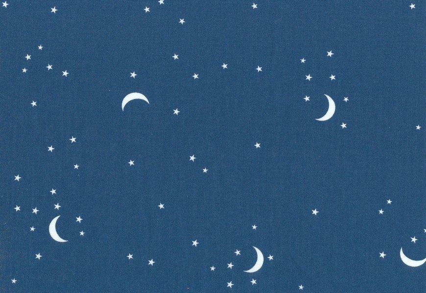 Moon & Stars - Moon and Stars - Teal