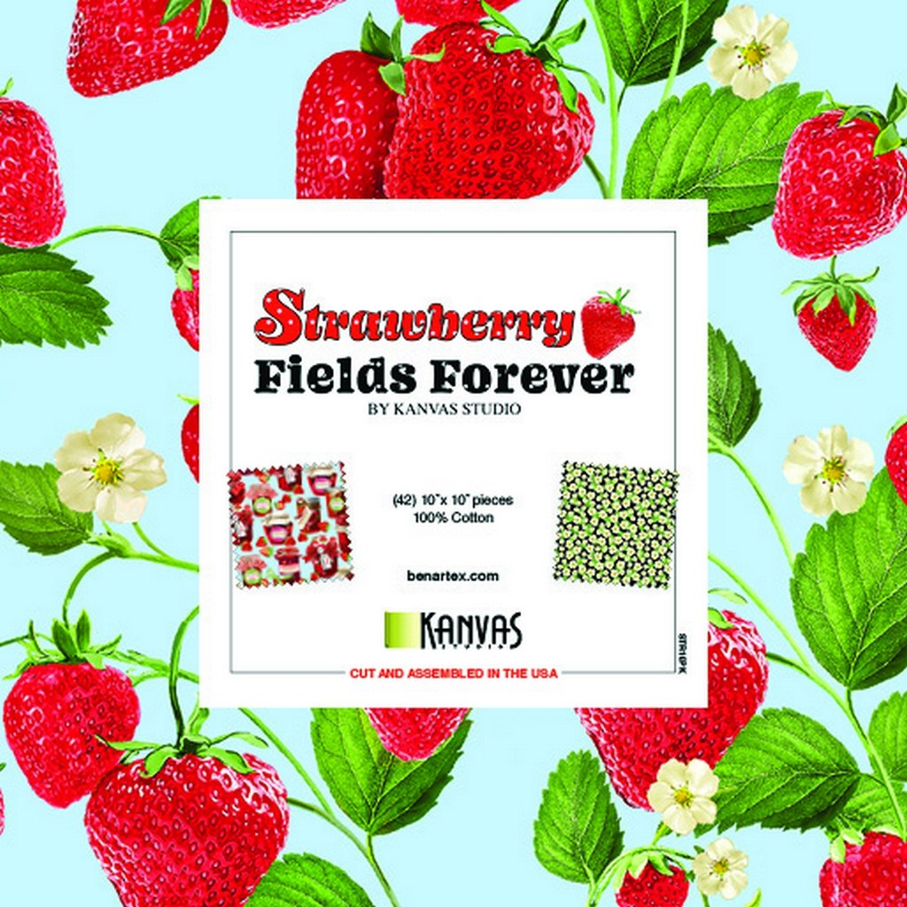 Strawberry Fields Forever - 10 Squares - Multi