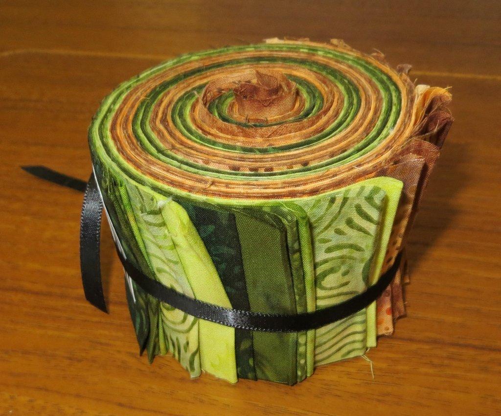 Brown/Green Batik 2.5 Strips (24 pieces) - Multi
