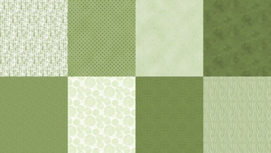 Details - Panel (2 yard panel with 8 different Fat Quarters) - Olivia