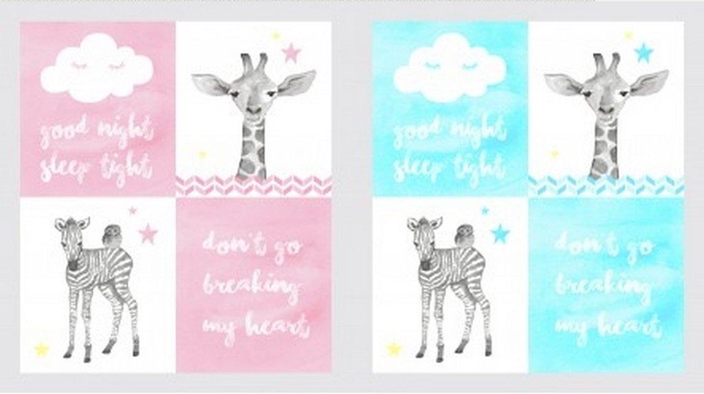 Baby Safari Panel Multi Pastel