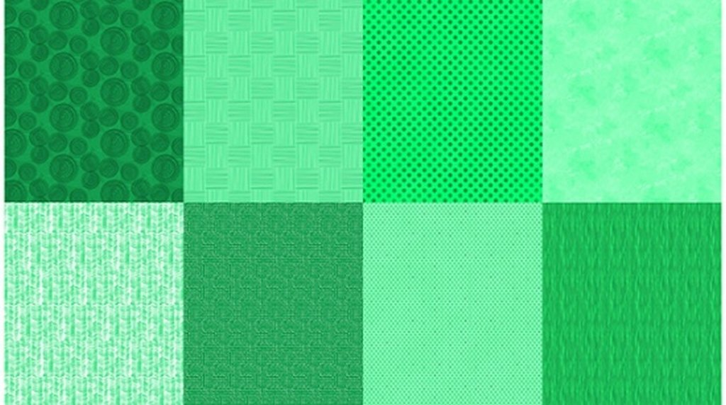 Details - Panel (2 yard panel with 8 different Fat Quarters) - Emerald