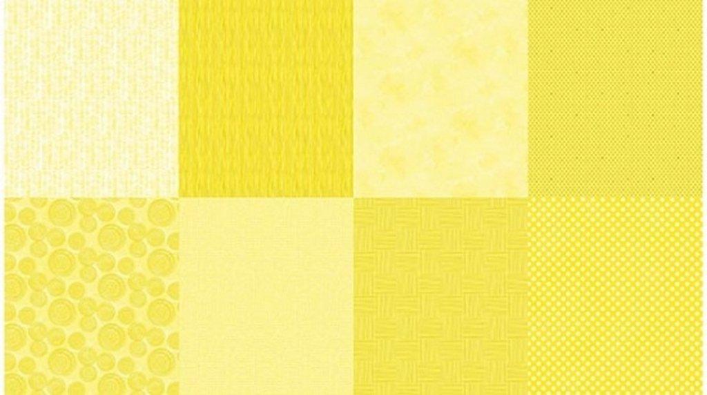 Details - Q4481-124 - Lemon (2 yard panel with 8 different Fat Quarters)