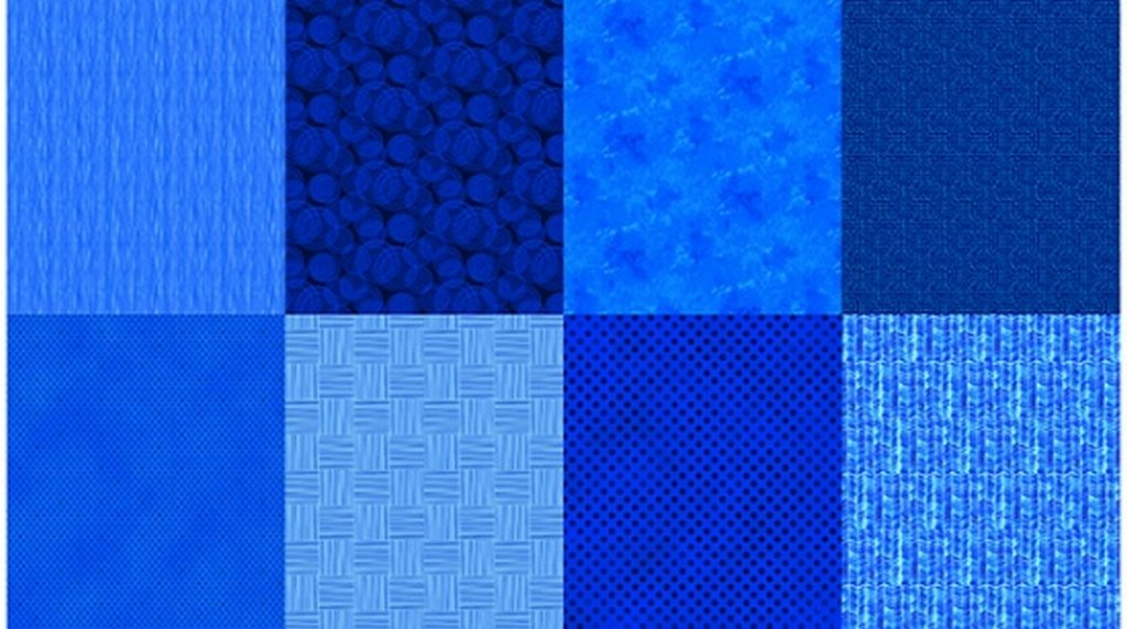 Details - Panel (2 yard panel with 8 different Fat Quarters) - Sapphire