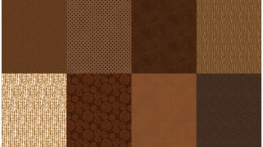 Details - Panel (2 yard panel with 8 different Fat Quarters) - Brownie