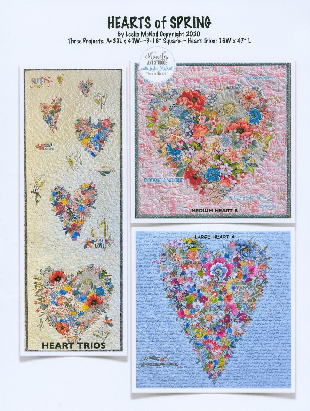 Hearts of Spring Collage Pattern by Leslie McNeil