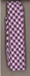 Frou-Frou 1in Checkered Bias Tape Purple