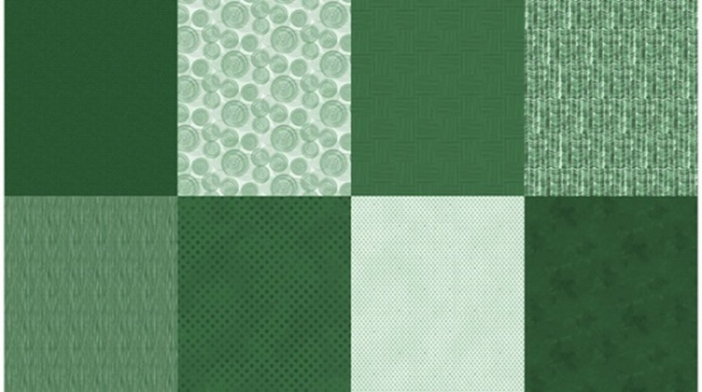 Details - Panel (2 yard panel with 8 different Fat Quarters) - Hunter