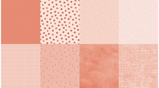 Details - Panel (2 yard panel with 8 different Fat Quarters) - Salmon