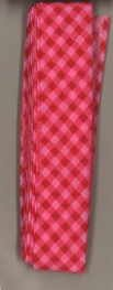 Frou-Frou 1in Checkered Bias Tape Red