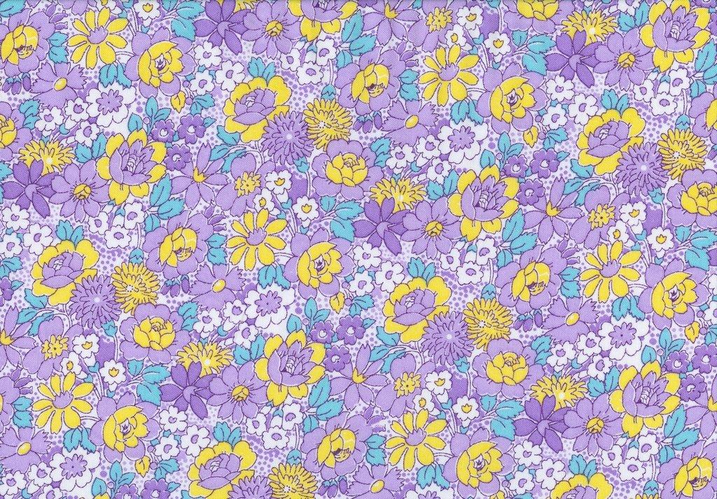 Nana Mae III - Medium Floral - Purple