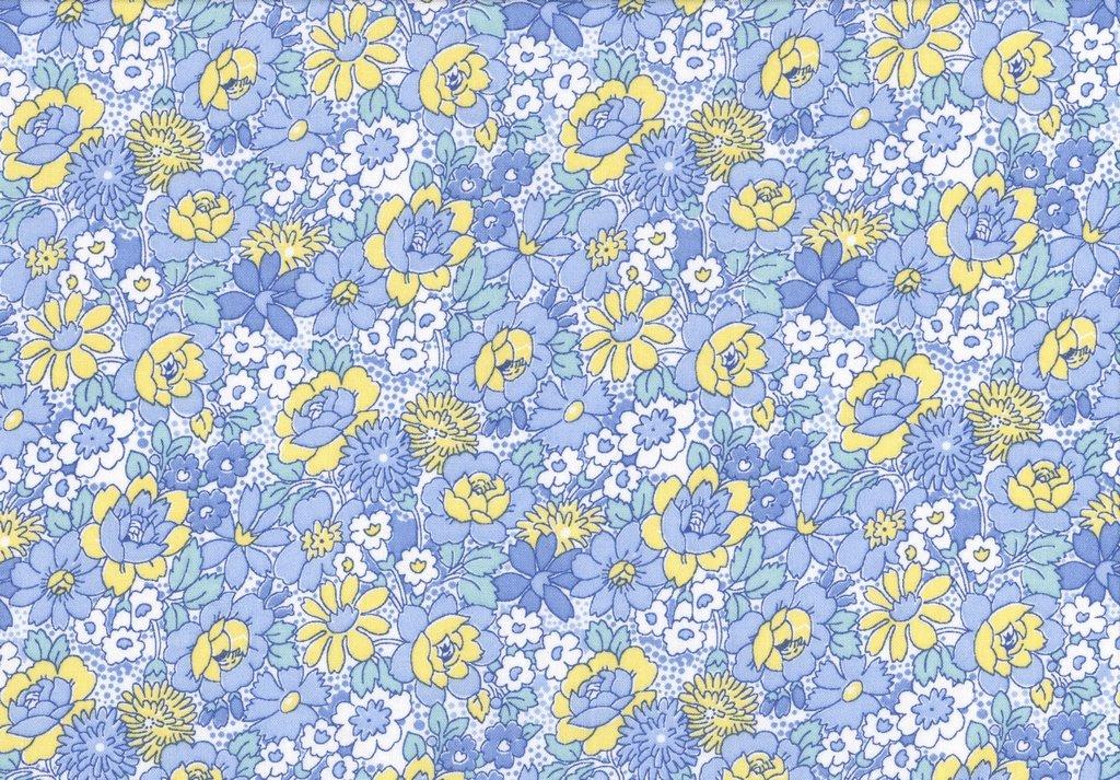 Nana Mae III - Medium Floral - Blue