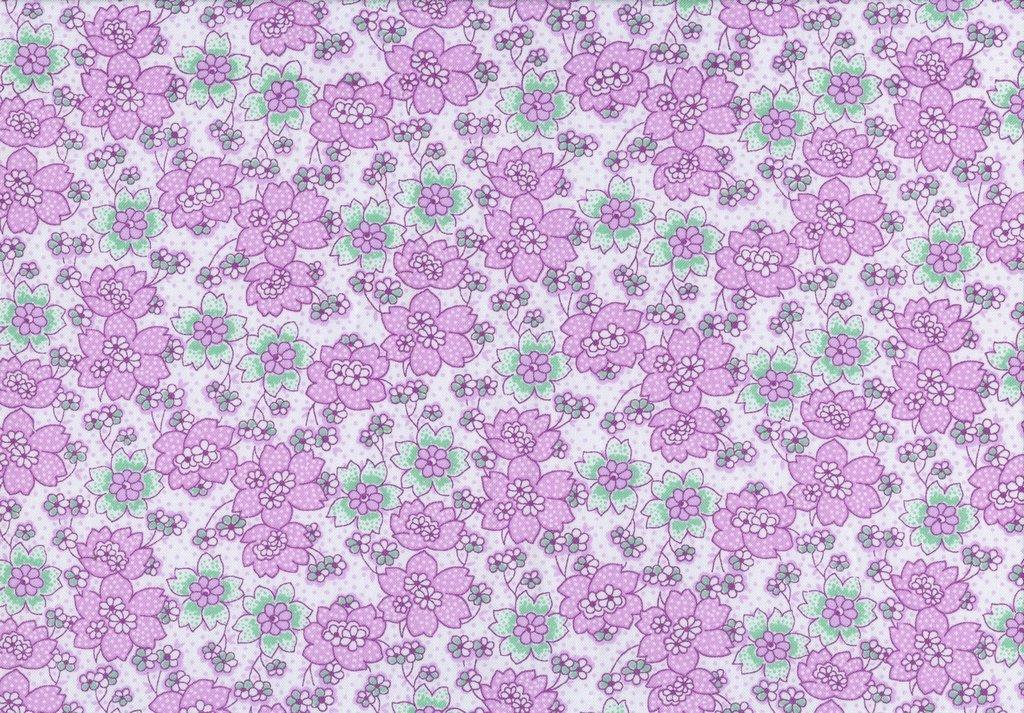 Nana Mae III - Dotted Flower - Purple
